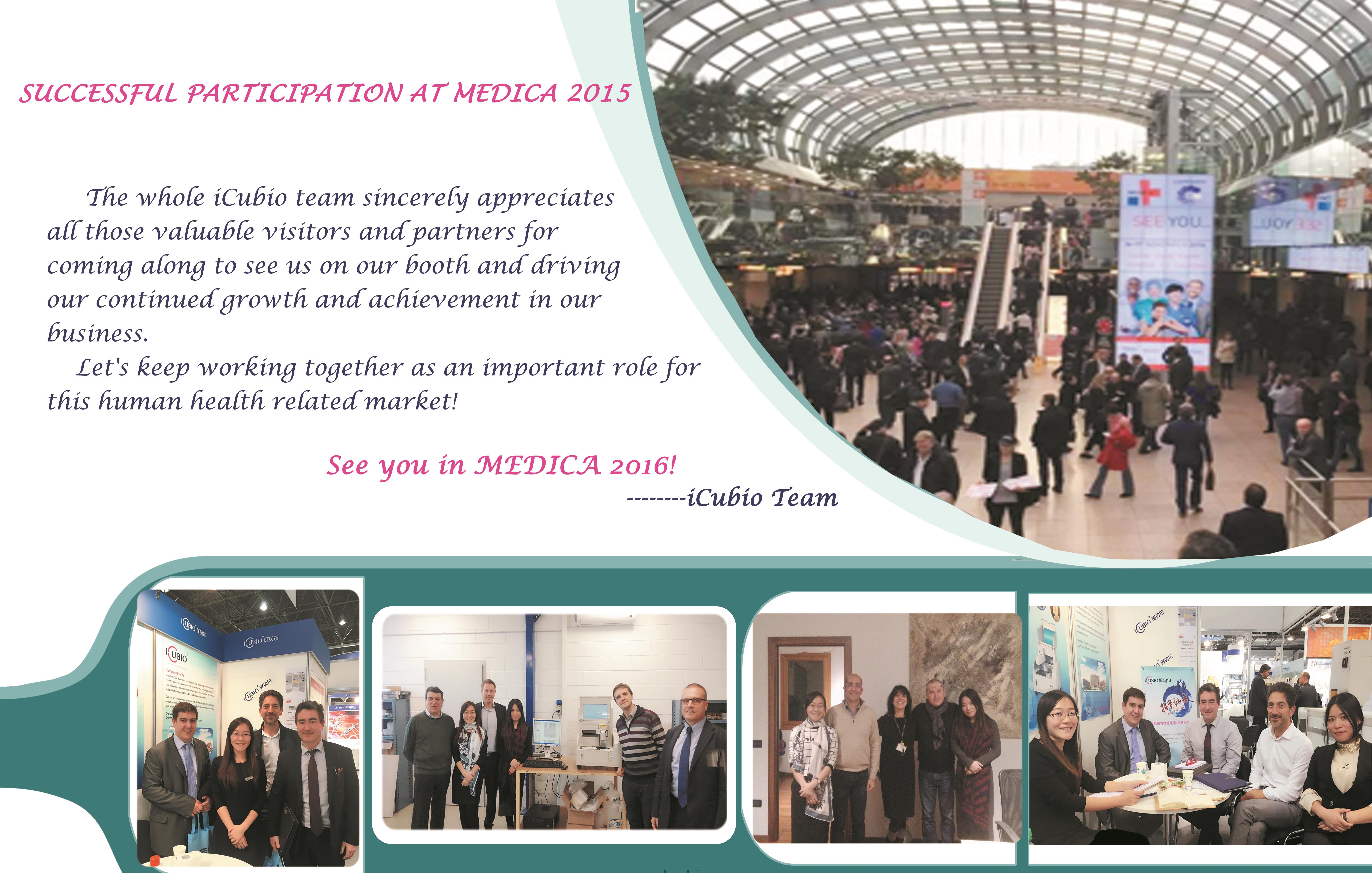 SUCCESSFUL PARTICIPATION AT MEDICA 2015
